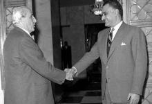 صورة اجتماع شكري القوتلي مع جمال عبد الناصر 1961 (2)
