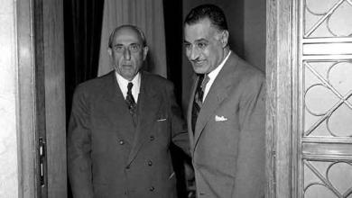 صورة اجتماع شكري القوتلي مع جمال عبد الناصر 1961 (3)