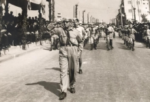 صورة كشاف ثانوية الكلية الوطنية في اللاذقية في احتفال عيد الجلاء 1967