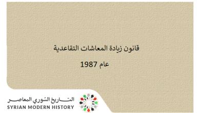 صورة قانون زيادة المعاشات التقاعديةعام 1987