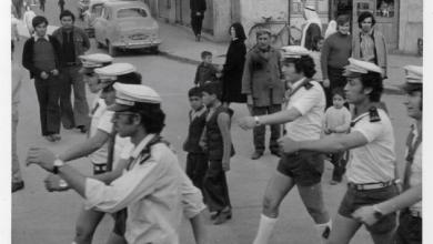 صورة قادة كشاف اللاذقية في استعراض بمناسبة مهرجان الكشفية عام 1975