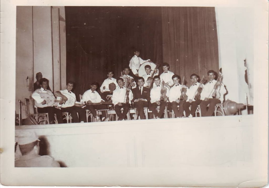 فرقة نادي الفنون الجميلة الموسيقية في السويداء عام 1964
