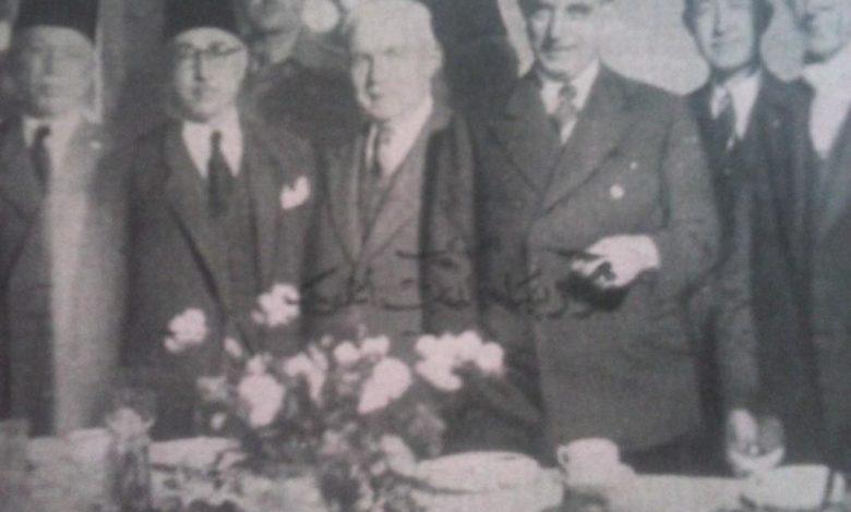 صورة نوري السعيد في دمشق عام 1944