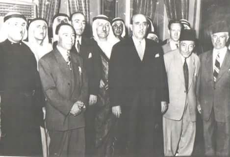 صورة شكري القوتلي في سلمية عام 1946