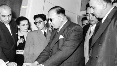صورة توفيق نظام الدين في زيارة مركز لرعاية المكفوفين في دمشق عام 1956 (1)