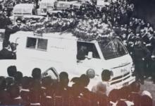 صورة جنازة عبد الكريم الجندي أمام المشفى الطلياني 1969