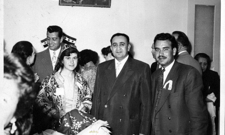 صورة توفيق نظام الدين في زيارة  مركز لرعاية المكفوفين في دمشق عام 1956 (4)