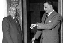 صورة اجتماع شكري القوتلي مع جمال عبد الناصر 1961
