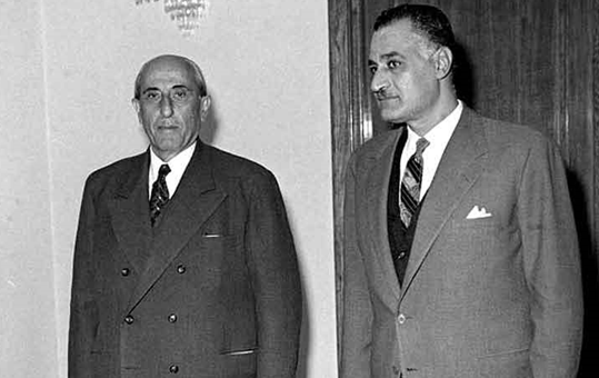 صورة اجتماع شكري القوتلي مع جمال عبد الناصر 1961 (4)