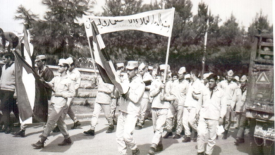 صورة حلب 1969 – مسيرة استنكار ضرب العمل الفدائي في لبنان (7)