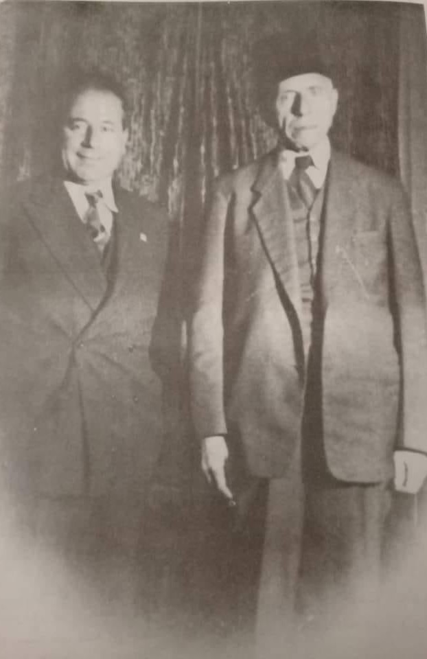 أنطون سعادة والقاضي عبد الغني إسرب في اللاذقية عام 1948م