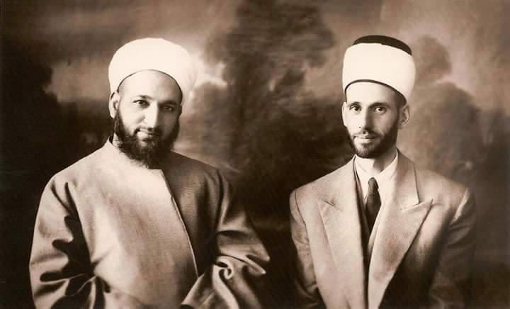 الشيخان أحمد كفتارو ومحمد بشير الباني