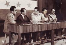 صورة أعضاء في نادي الفنون الجميلة في السويداء في تلفزيون بغداد 1963