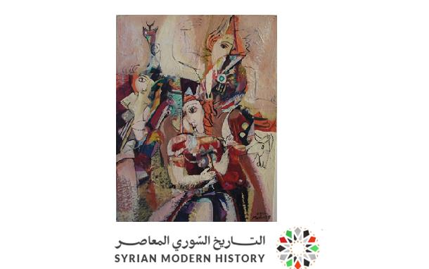 صورة لوحة تكوين للفنان أحمد مادون عام 1977 (39)