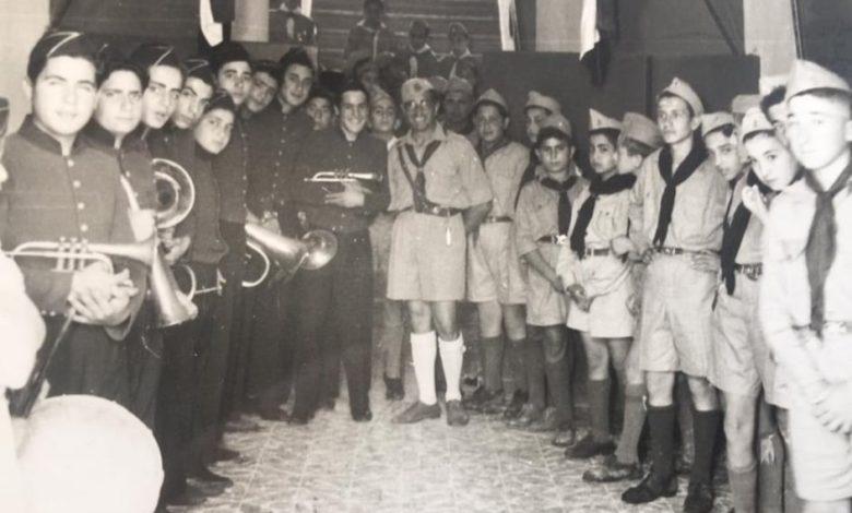 صورة الفرقة الموسيقية مع كشاف مدرسة الكلية الوطنية في اللاذقية عام 1959