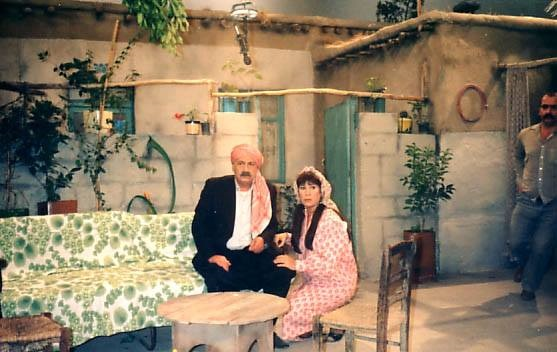 صورة رفيق سبيعي ومنى واصف في مسلسل الخشخاش عام 1990
