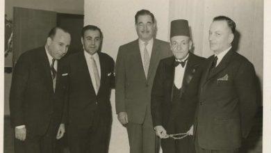 صورة صبحي العمري في حفل استقبال سفارة تونس ببيروت عام 1964