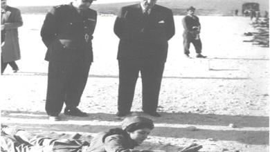 صورة فيديو زيارة شكري القوتلي وتوفيق نظام الدين لأحد مواقع التدريب على الرمي للفتيات 1956