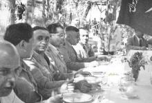 صورة أديب الشيشكلي وتوفيق نظام الدين ومحمود شوكت عام 1951