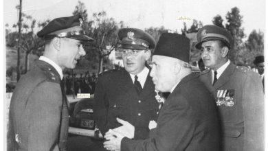 صورة صائب سلام والعقيد توفيق نظام الدين عام 1953
